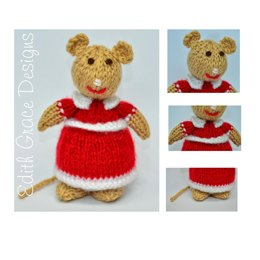 Lady Mouse Doll - Toy Knitting Pattern