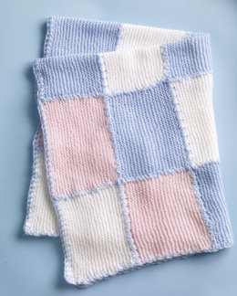 Faux Patchwork Baby Blanket in Lion Brand Babysoft - 10126AD