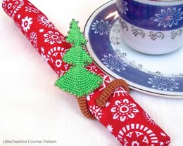 100 Christmas tree napkin ring, table decor