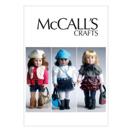 McCall's 18 (46cm) Doll Clothes and Accessories M6480 - Sewing Pattern