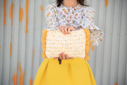 Santorini Pom Pom Clutch in Hoooked Spesso Eco Barbante and Hoooked Somen  - Downloadable PDF