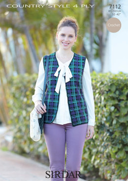 Waistcoat in Sirdar Country Style 4 Ply - 7112 - Downloadable PDF