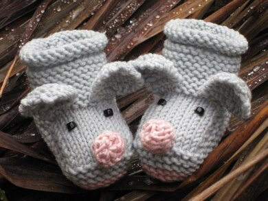 Little Mice Baby Booties