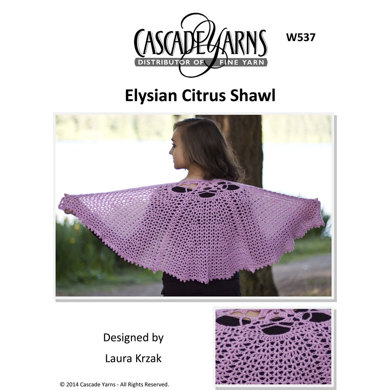 Citrus Shawl in Cascade Elysian - W537