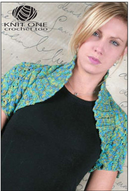 Skylar Shrug in Knit One Crochet Too Fleurtini - 1990 - Downloadable PDF