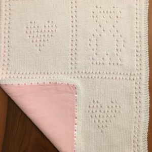 Teddy Bear Blankie Set Knitting pattern by Craft Designs for You