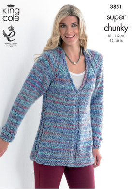 Tunic and Cardigan in King Cole Super Chunky - 3851