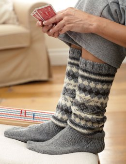 The Fair Isle Sock in Patons Classic Wool Worsted