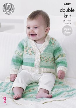 Raglan Cardigans & Blanket in King Cole Drifter For Baby DK - 4489 - Downloadable PDF