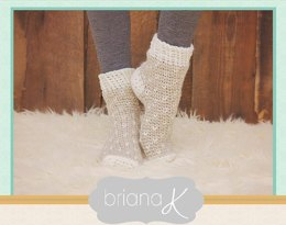Winter Crochet Slipper Socks