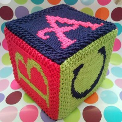A for Apple, B for Ball, C for Car Building block cube