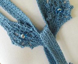 September crochet lariat scarf