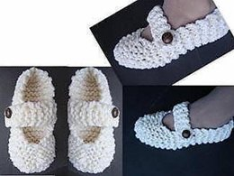 341, QUICK KNIT MARY JANE SLIPPERS
