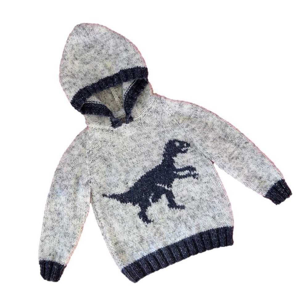 Dinosaur Hoodie - Velociraptor Knitting pattern by iKnitDesigns