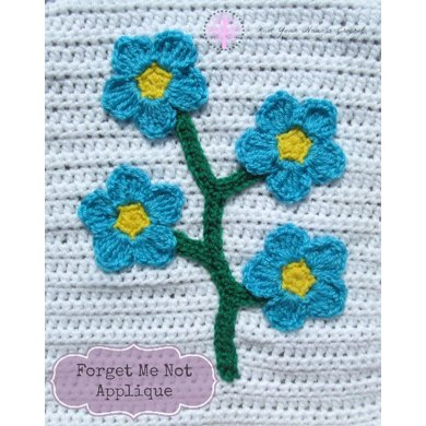 Forget Me Not Applique