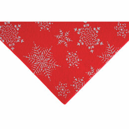 Trimits Glitter Felt Sheet Red