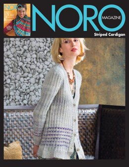 Striped Cardigan in Noro Tennen - 15514 - Downloadable PDF