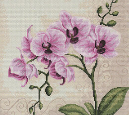 Luca-S Pink Orchid Cross Stitch Kit