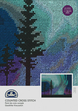 DMC Northern Lights 14 Count Cross Stitch Kit - 26cm x 0.5cm x 19.5cm - BK1722