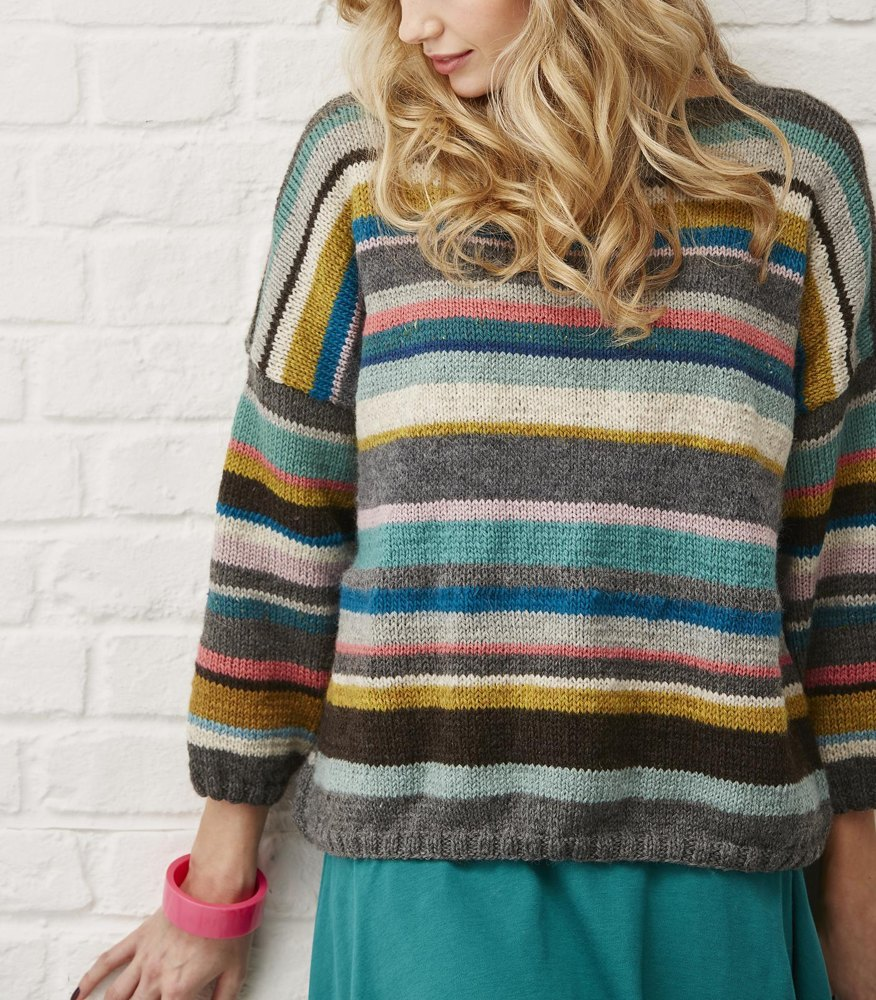 Stashbuster Sweater Knitting pattern by Rosee Woodland