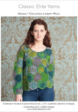 Maxime Pullover in Classic Elite Yarns Liberty Wool Solids - Downloadable PDF