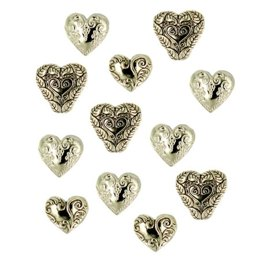 Dress It Up Hearts Assorted Gold