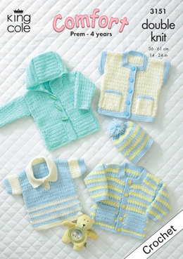 Baby Garments in King Cole Comfort DK - 3151