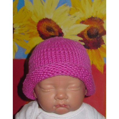 Baby Simple Roll Brim Beanie Hat