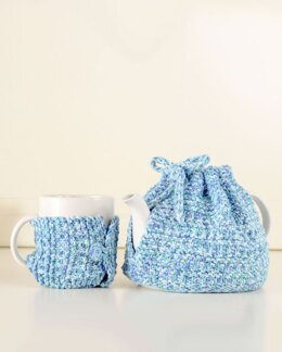 Simplici-Tea Knit Tea Cozy Set in Premier Yarns Home Cotton Multis - HCM001 - Downloadable PDF