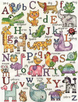 Design Works Animal A-B-C Sampler Cross Stitch Kit