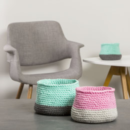 Brooklyn Baskets Set in Premier Yarns Everyday Bulky - Downloadable PDF