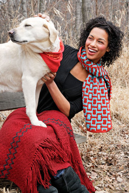 Aztec Scarf in Spud & Chloe Sweater - 9501