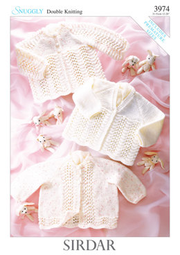 Babies Matinee Coats in Sirdar Snuggly DK - 3974 - Downloadable PDF