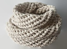 Long Infinity Light Beige Scarf Pattern