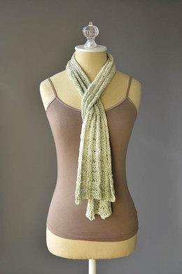 Botanical Scarf in Fibra Natura Good Earth Adorn - 977 - Downloadable PDF