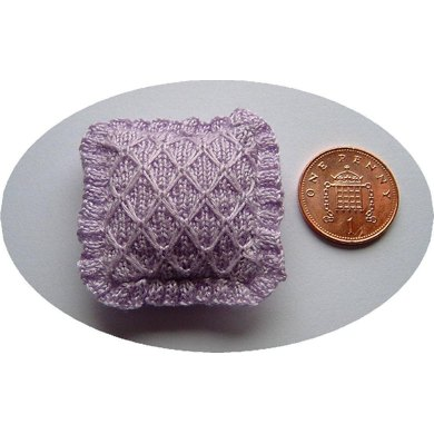 1:12th scale smocked cushion