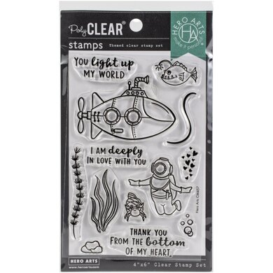 """Hero Arts Clear Stamps 4""""X6"""" - Deeply In Love"""