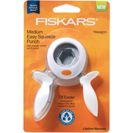 Fiskars Squeeze Punch Medium - Hexagon, 1""