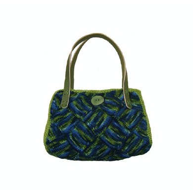 Tree Frog Entrelac Purse