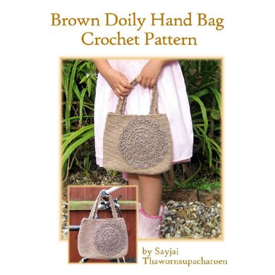 Brown Doily Hand Bag Crochet Pattern