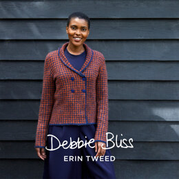 """ Jenni "" - Jacket Knitting Pattern For Women in Debbie Bliss Erin Tweed by Debbie Bliss"
