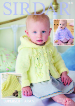 Hooded and Flat Collar Jackets and Blanket in Sirdar Supersoft Aran - 4830