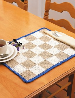 Placemats & Napkin Rings in Bernat Handicrafter Cotton Solids