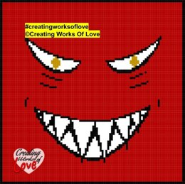 Grinning Evil Face C2C Graph