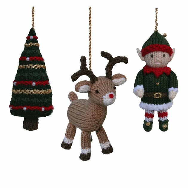 Christmas Tree, Reindeer and Elf Knitting pattern by Knitables Knitting Pat...