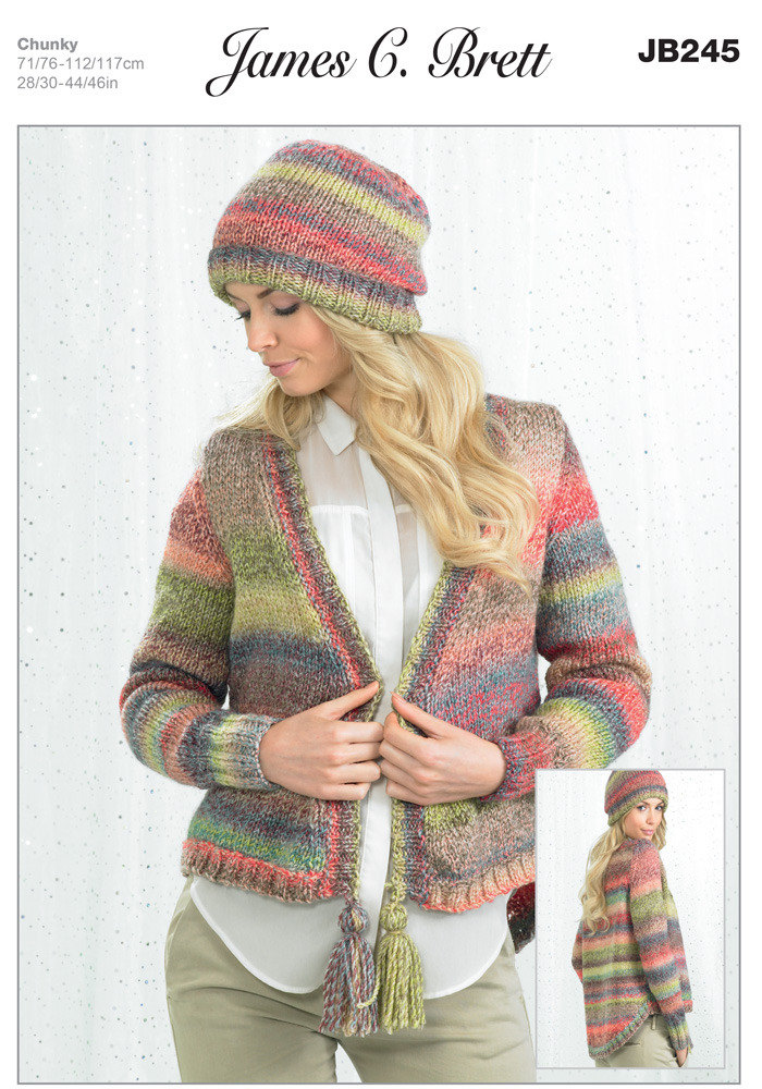Hat And Jacket In James C Brett Marble Chunky Jb245