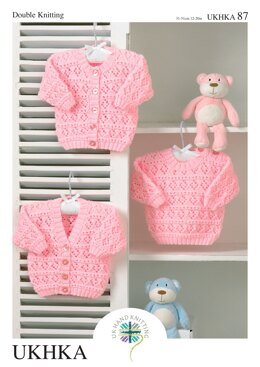 Cardigans and Sweater in King Cole Baby DK - UKHKA87pdf - Downloadable PDF