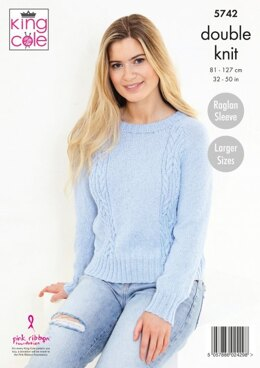 Ladies Sweater and Cardigan in King Cole Subtle Drifter DK - 5742 - Leaflet