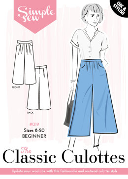 Simple Sew Patterns The Classic Culottes #019 - Sewing Pattern