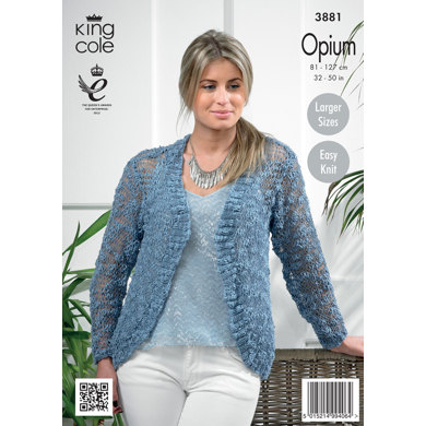 Womens' Cardigans in King Cole Opium - 3881